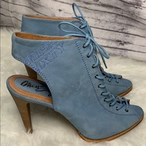 Miss Sixty Blue Suede Lace-up Heels 39